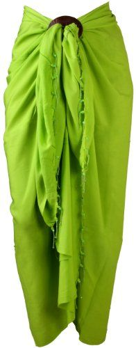Sarong Solid Beaded Fringe with Coconut Shell Clip Lime Green Back From Bali http://smile.amazon.com/dp/B00BFBXGSQ/ref=cm_sw_r_pi_dp_jKkgub1CAWFHF