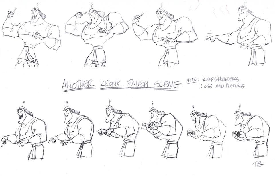 Disney Character Design Sheets : Kronk model sheet tony bancroft ★ art of walt disney