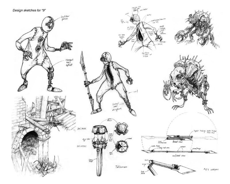 image result for 9 concept art tim burton