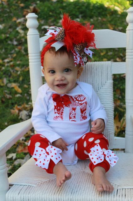 Over The Top Boutique Christmas outfit SET -- Santa Baby with Initial  Onesie -- bow, leg warmers and onesie on Etsy, $54.00 - Over The Top Boutique Christmas Outfit SET -- Santa Baby With