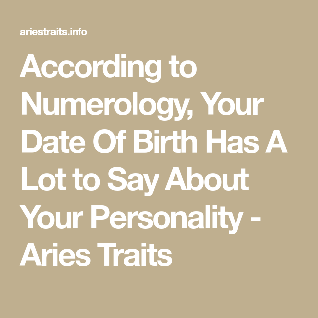 According to Numerology, Your Date Of Birth Has A Lot to Say