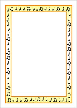 Musical Notes A4 Page Borders Sb7712 Sparklebox Borders Page