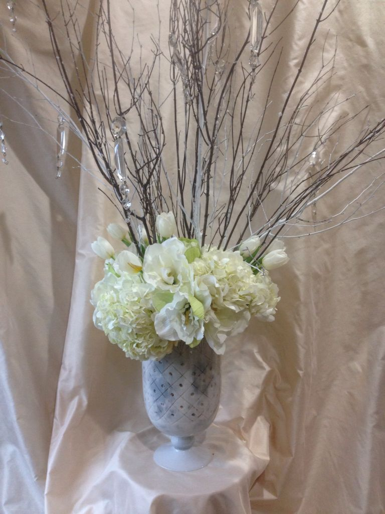 Winter White Floral Arrangement Floral Arrangements Pinterest