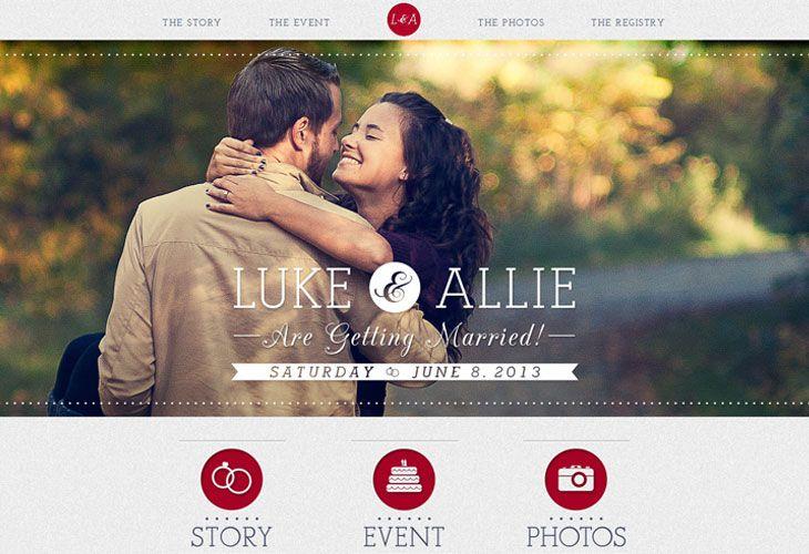 Lukeandallie Web Development Design Website Design Wedding Website Inspiration