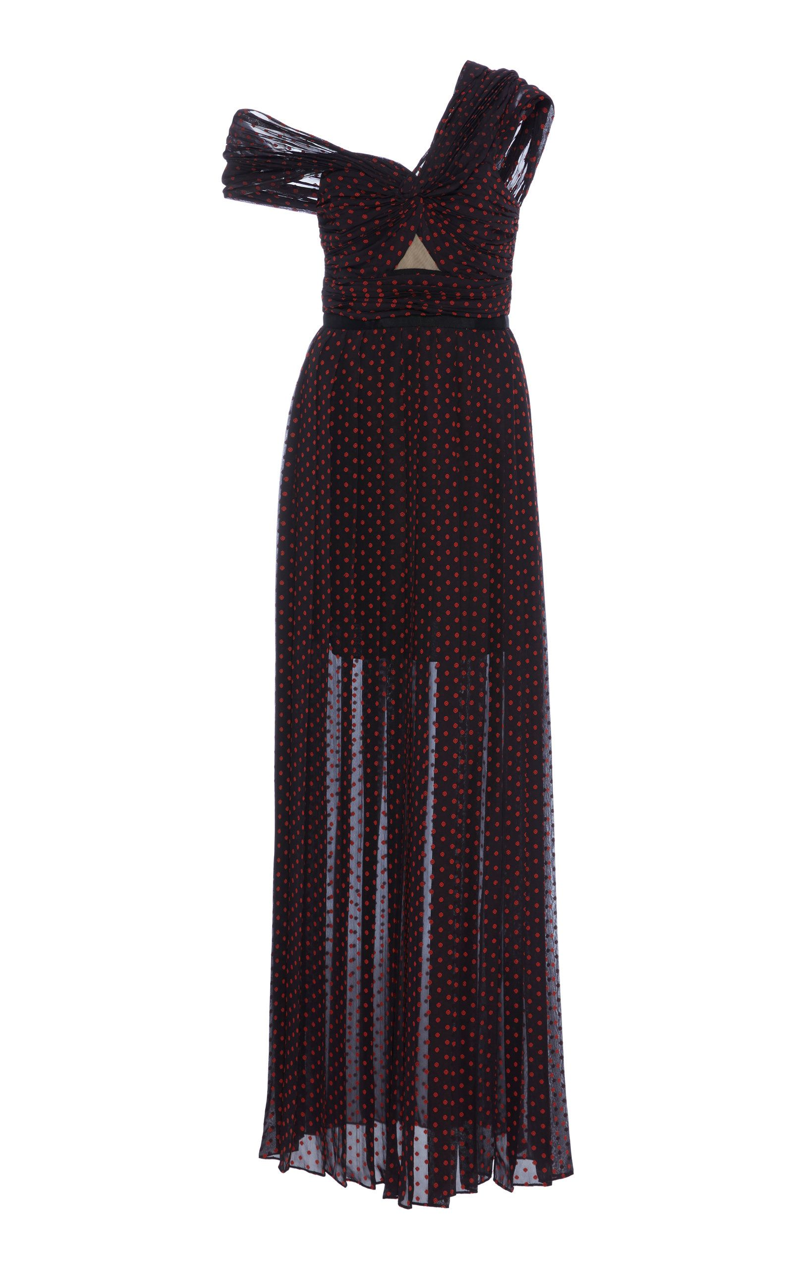 a56a5ae77d4 One Shoulder Plumetis Maxi Dress by SELF PORTRAIT Now Available on Moda  Operandi