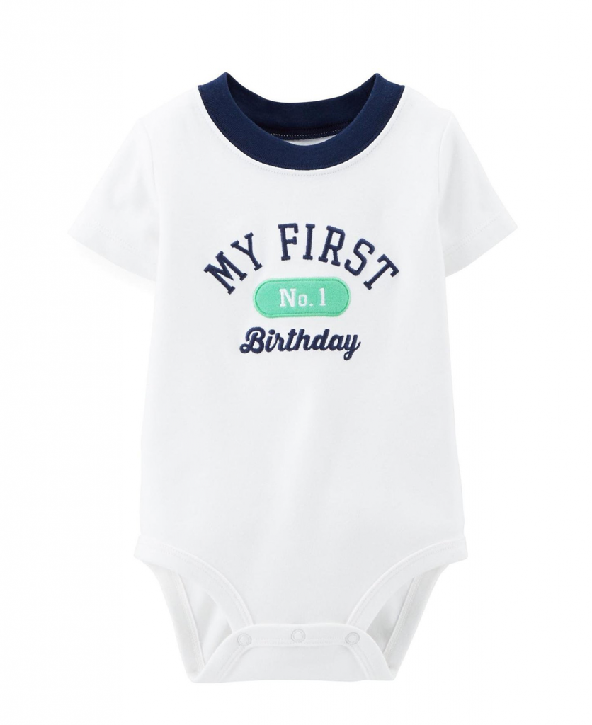 Cute Carters Baby Boys Birthday Bodysuit Boy First Outfit