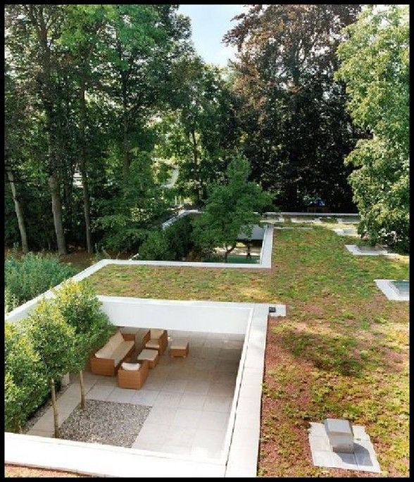 Beautiful Earthen Roof House With A Modern Design · Zen GardensRoof ...
