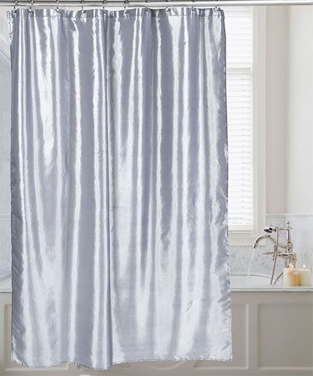 The Silky Shimmer Of This Shower Curtain Adds Sophistication To