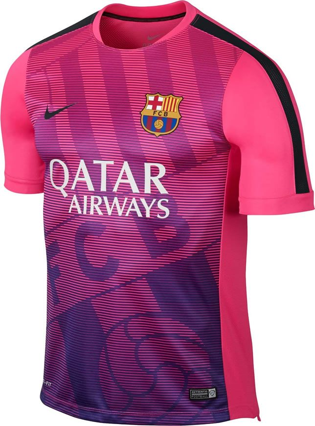 Barcelona 2015 Nike Training Kits  7c620a887b9