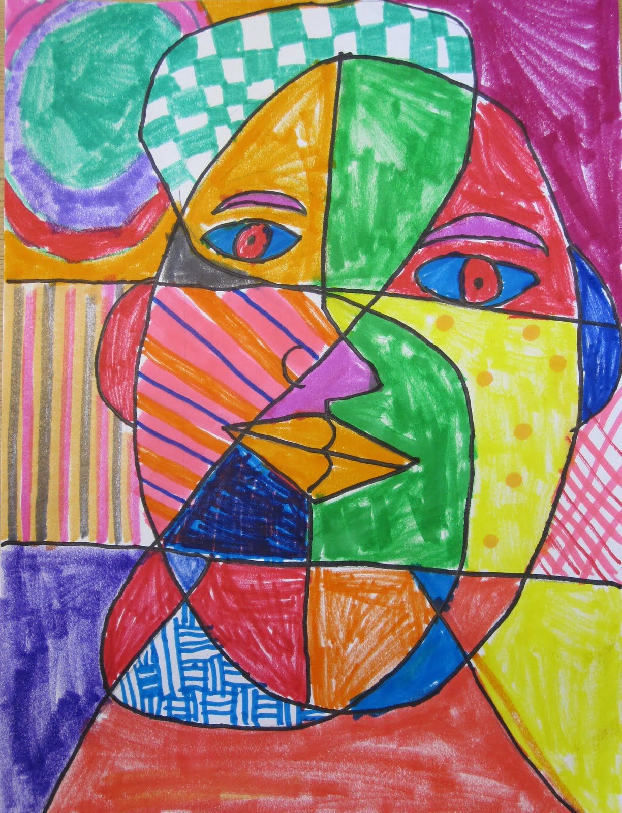 Picasso Art For Kids - Portrait Dora Maar Art