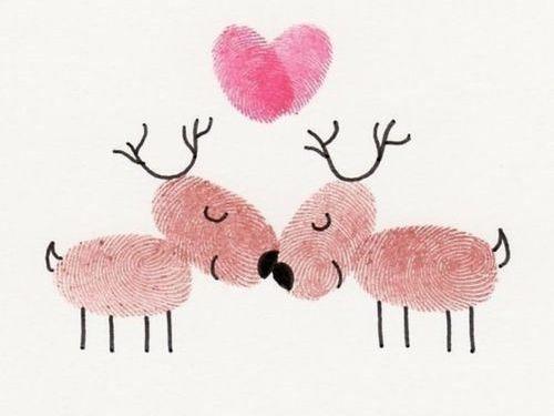 Weihnachtskarten Mit Fingerabdruck.Aus Fingerabdrücken Eine Weihnachtskarte Zaubern Chrismas