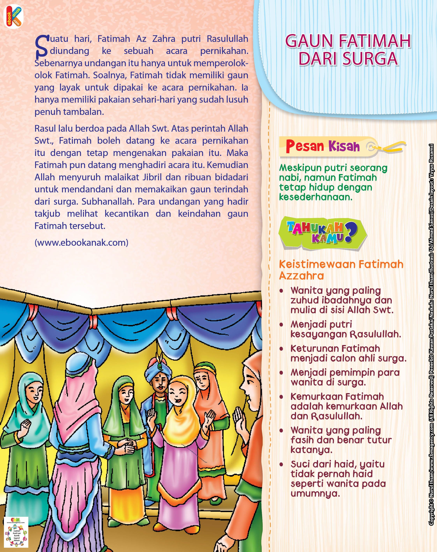 Fatimah Az Zahra dan Gaun dari Surga | Ebook Anak (Dengan ...