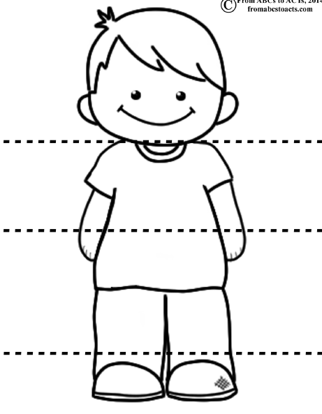 Boy puzzle | lesson plans | Pinterest