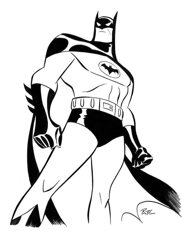 Batman By Bruce Timm Batman Coloring Pages Batman Artwork