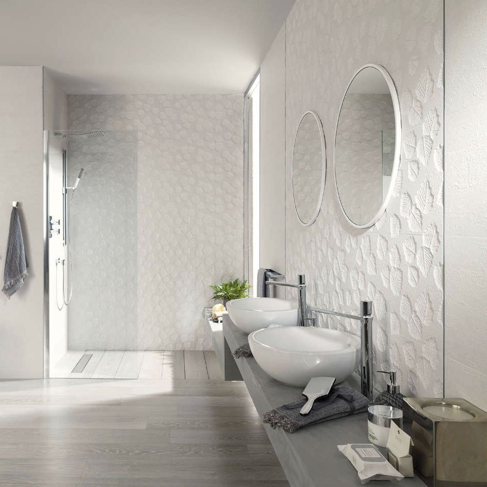 Baldosa para baño / de pared / de cerámica / con motivos ...