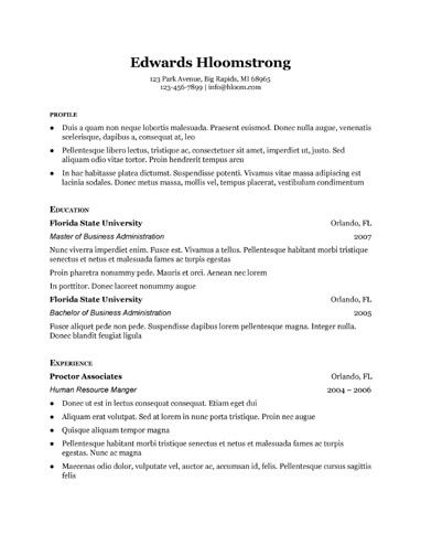 Traditional Elegance Google Docs Resume Template | Resume ...