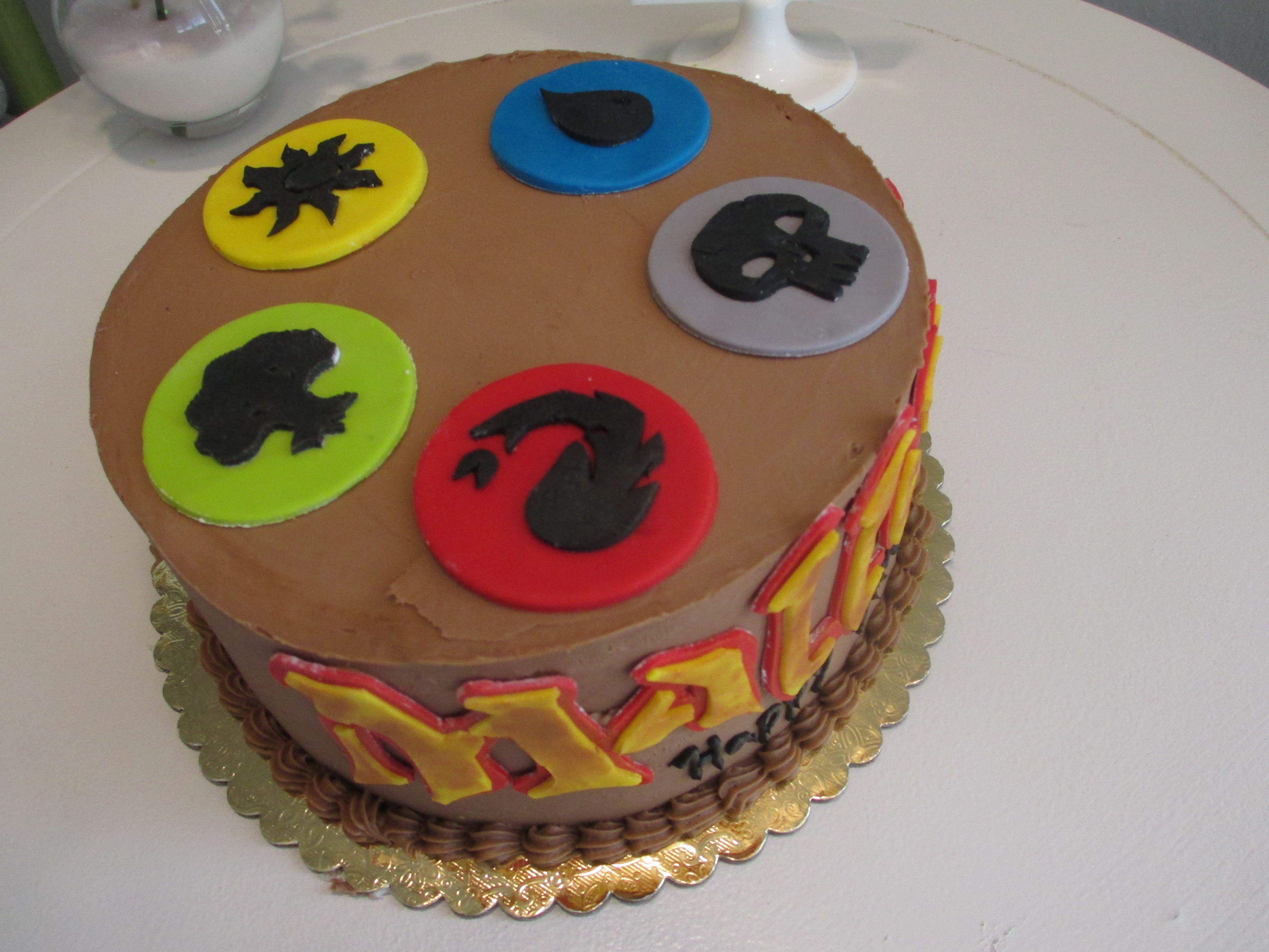 Awesome Magic The Gathering Birthday Cake Mtg Geek Nerd Candy