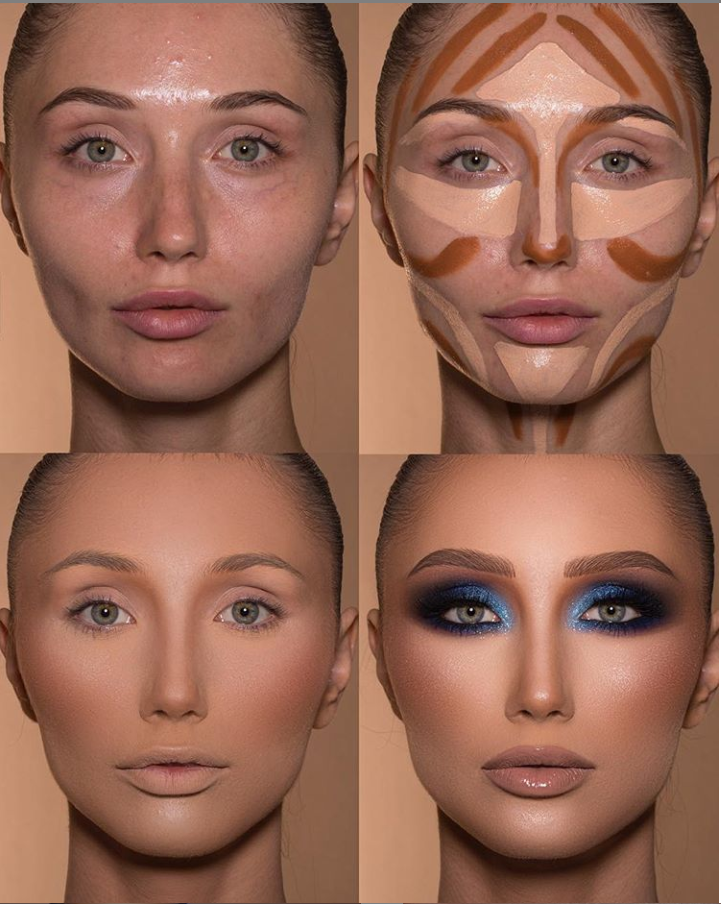 24 Perfect And Best Contour Highlight Makeup Tutorial For