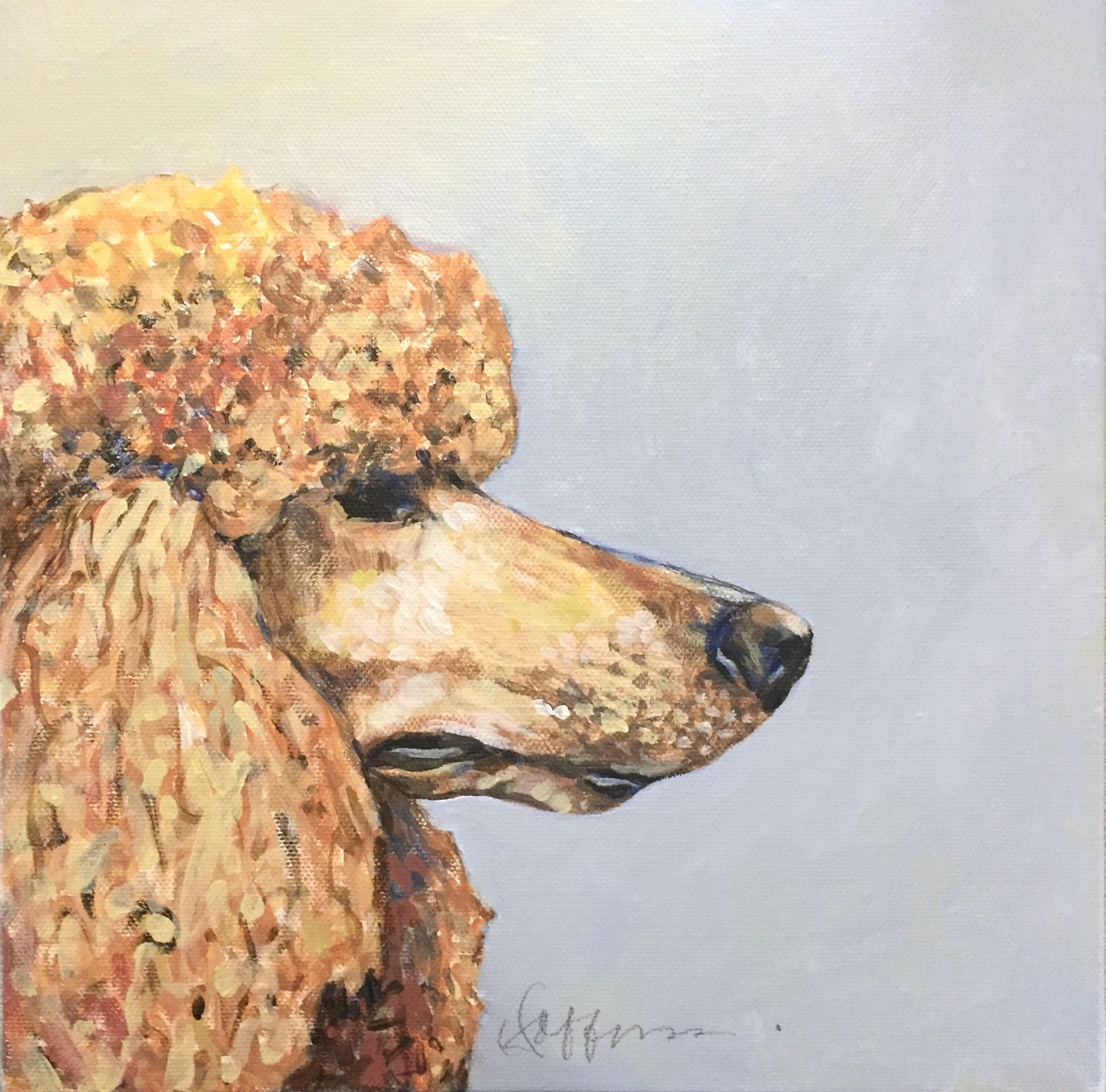 7 Dog Paintings Ideas Standard Poodle Poodle Dog Paintings