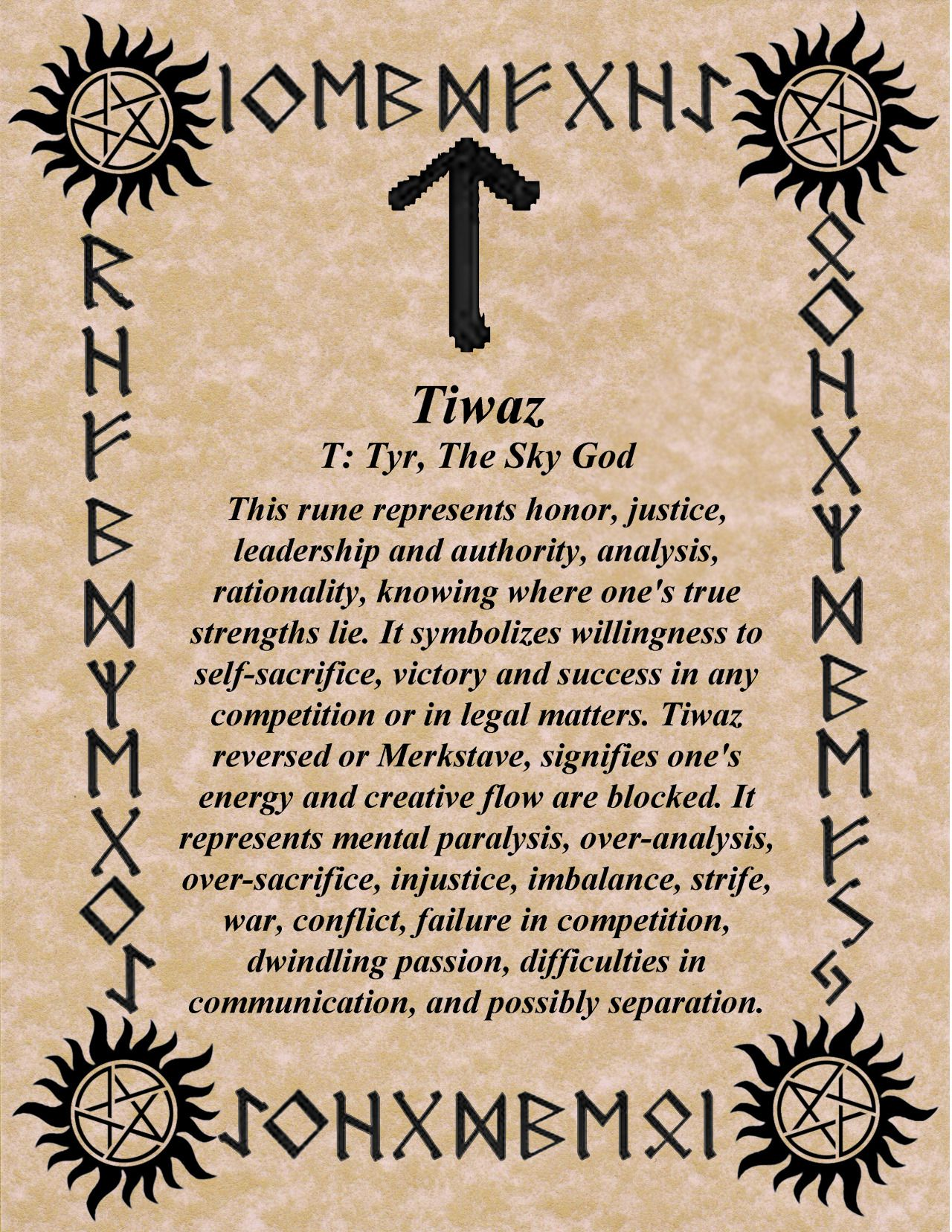 Tiwaz meaning creator spear tyr the norse god of justice futhark norse rune ehwaz what is yours will come to you ehwaz is confirmation of the messages of the other runes biocorpaavc