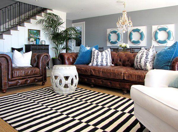 Blau Und Braun Wohnzimmer - Blau Und Braun Wohnzimmer – Tageslicht ...