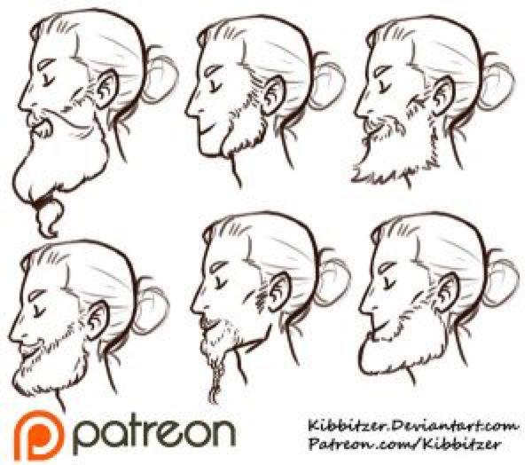 Beards reference sheet by Kibbitzer on @DeviantArt