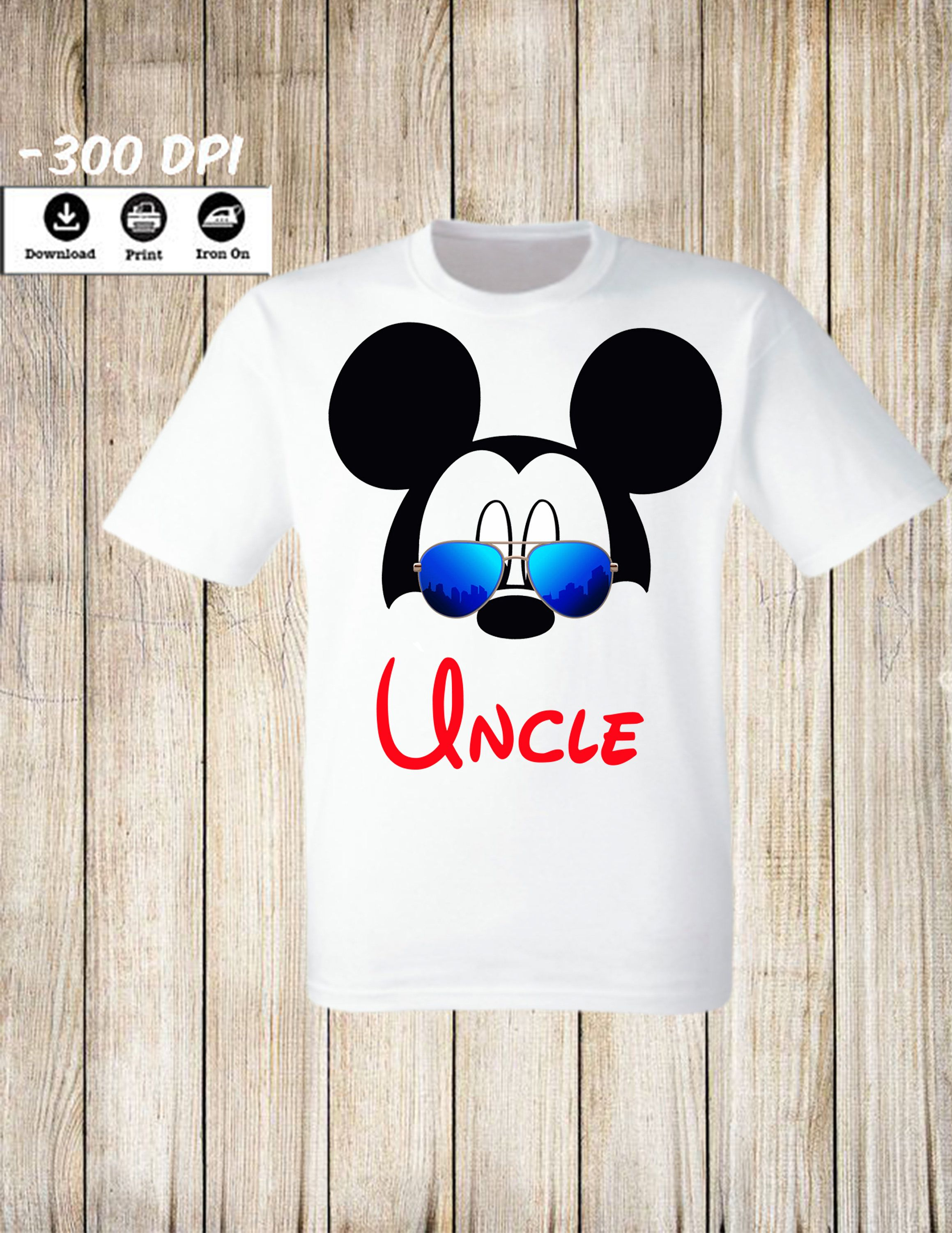 70df2d80 Mickey Minnie Mouse Uncle iron on transfer T Shirt. Mickey Minnie Mouse  Iron on Transfer Family matching set Mickey Birthday party image by ...