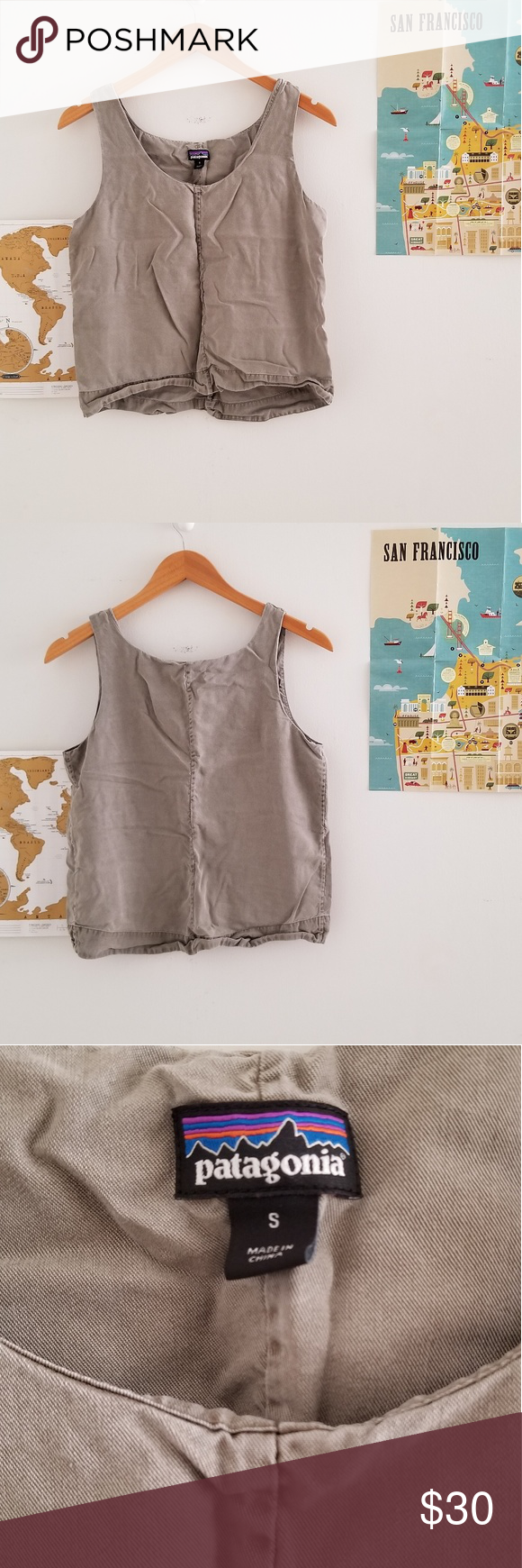8b1d7065dc044 patagonia • recircle tank top About  •brand  Patagonia •size  small •color   clean palmetto green •boxy silhouette •double layered •bra-friendly straps  ...