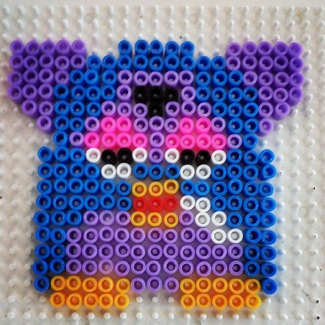 Furby perler beads by Pysslabeads | Awesome Crafts hama/perler/beads ...