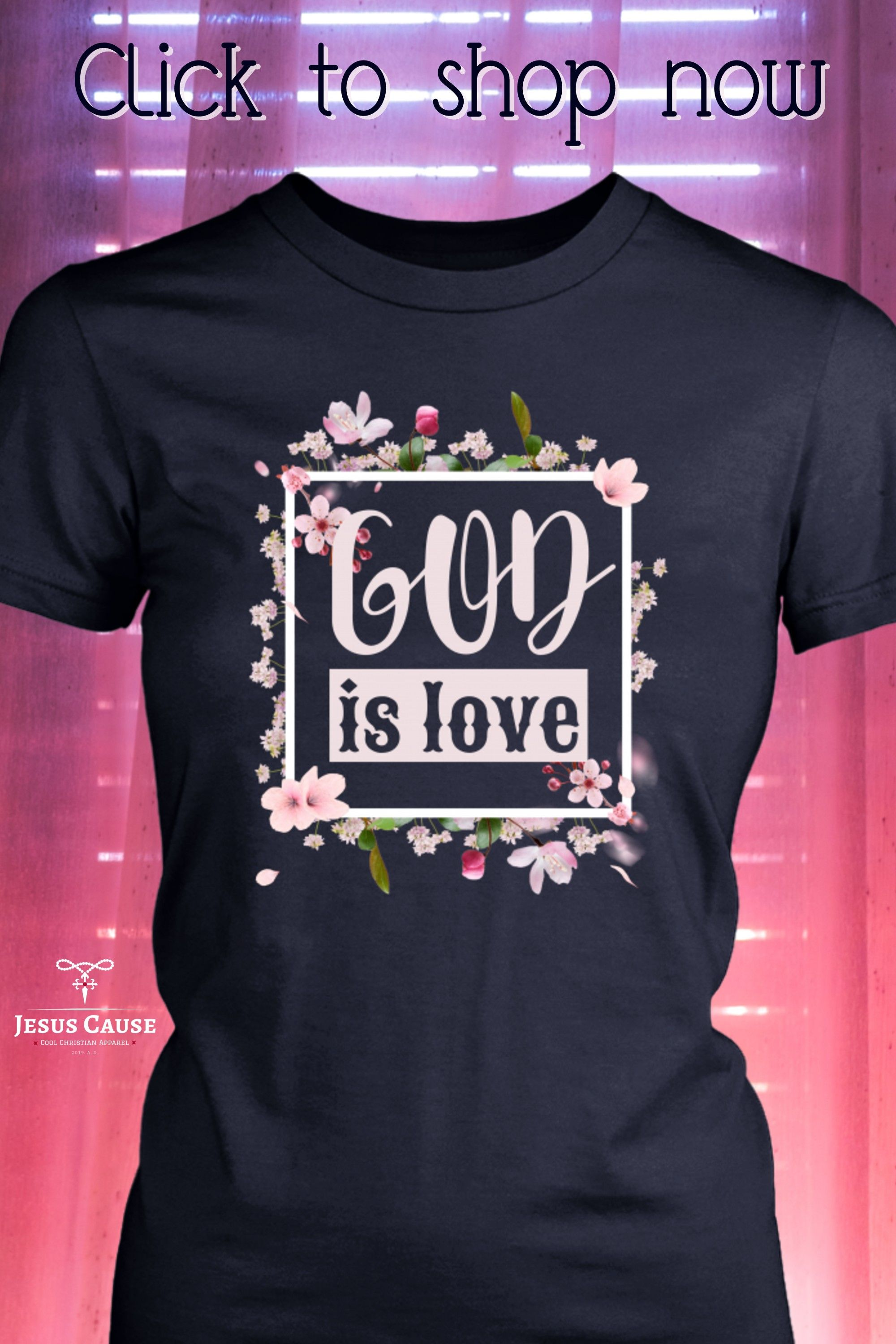 Floral Word Love With Birds Women/'s Tee Image by Shutterstock