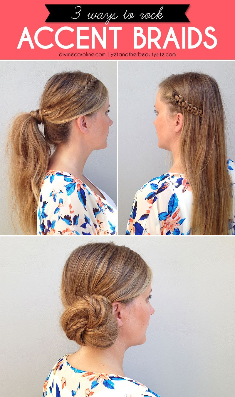 ways to rock accent braids ponytail hair style and hair dos