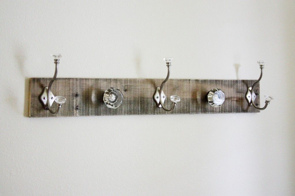 Coat Hooks Home Depot Delectable Pallet Wood Scrap Hooks From Home Depot And A Bolt To Attach The Decorating Inspiration
