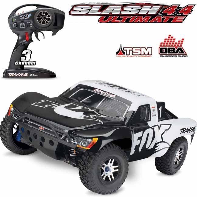 Traxxas 68077 24 Slash 4x4 Ultimate 1 10 Brushless Short Course Lcg Truck Fox Traxxas Slash 4x4 Slash 4x4 Traxxas Slash