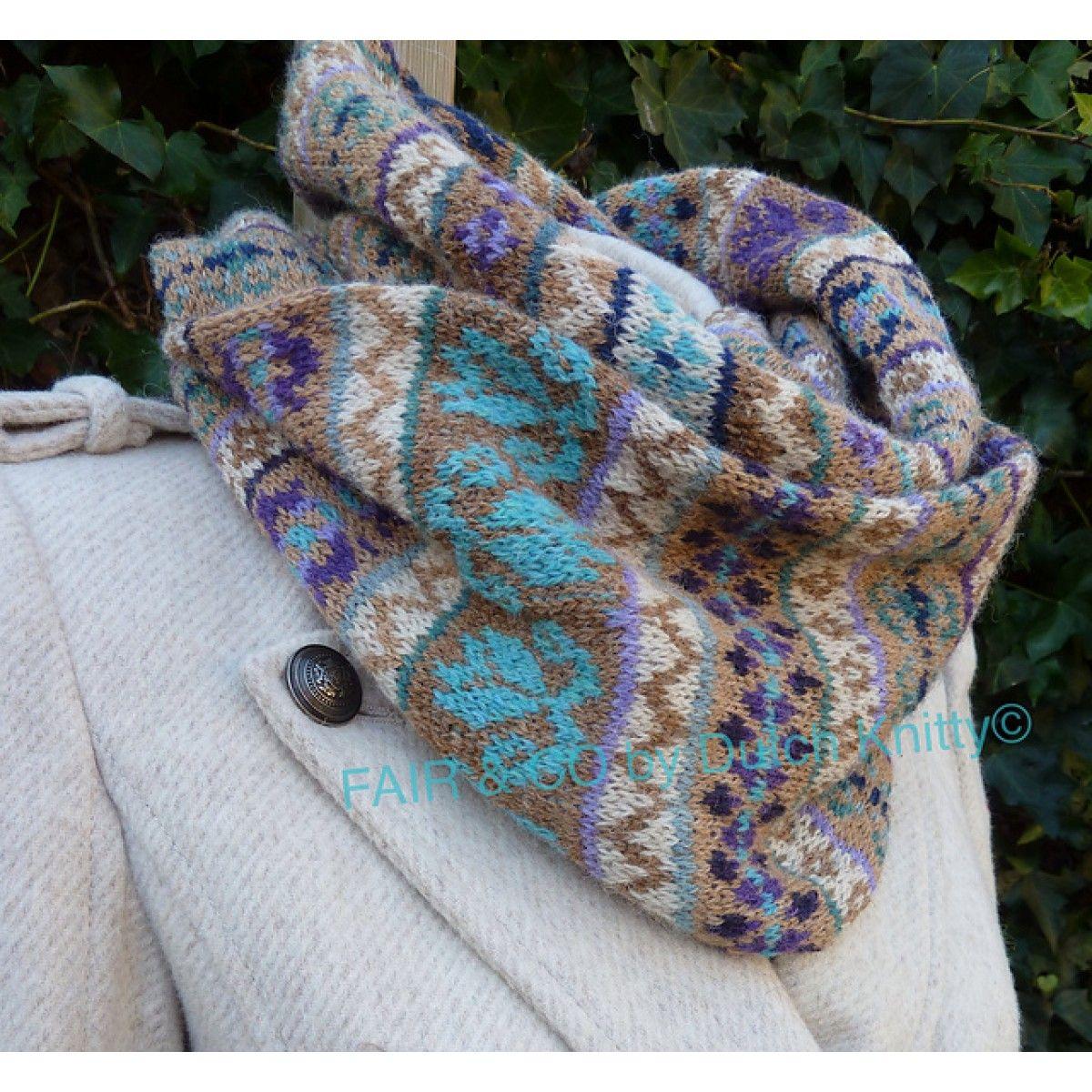 Fair & Co by Dutch Knitty: een prachtige col sjaal gebreid met Holst Garn Supersoft.