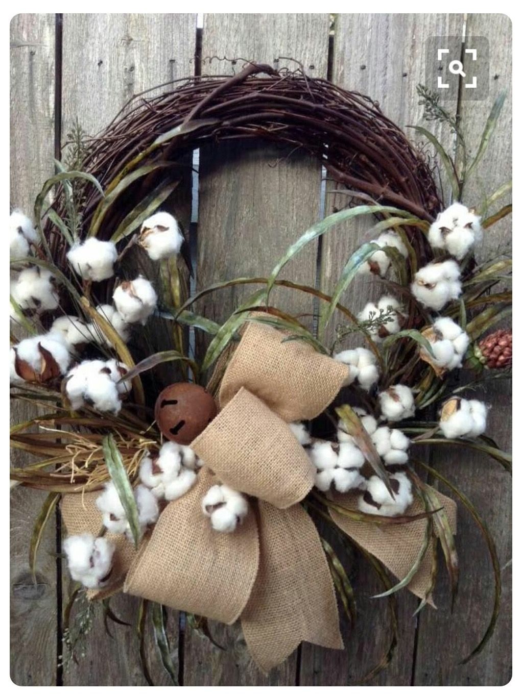 Pin By Brenda Phillips On Grapevine Wreaths Cotton Boll Wreath Primitive Wreath Wreath Crafts
