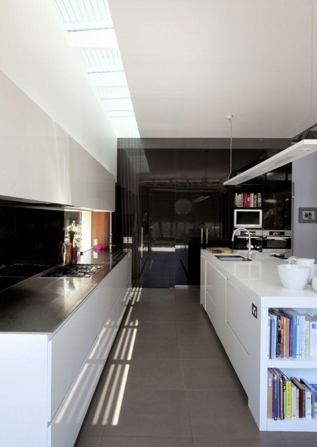 k che wei modern schwarze k chentheke stauraum k che. Black Bedroom Furniture Sets. Home Design Ideas