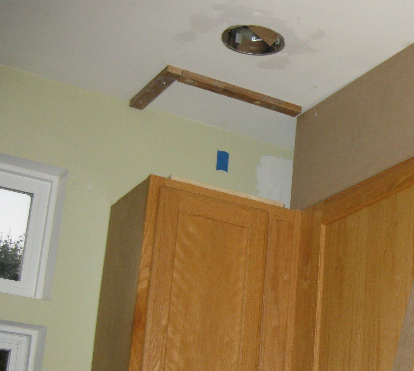 Closing The Space Above The Kitchen Cabinets Above Kitchen Cabinets Diy Kitchen Decor Kitchen Soffit