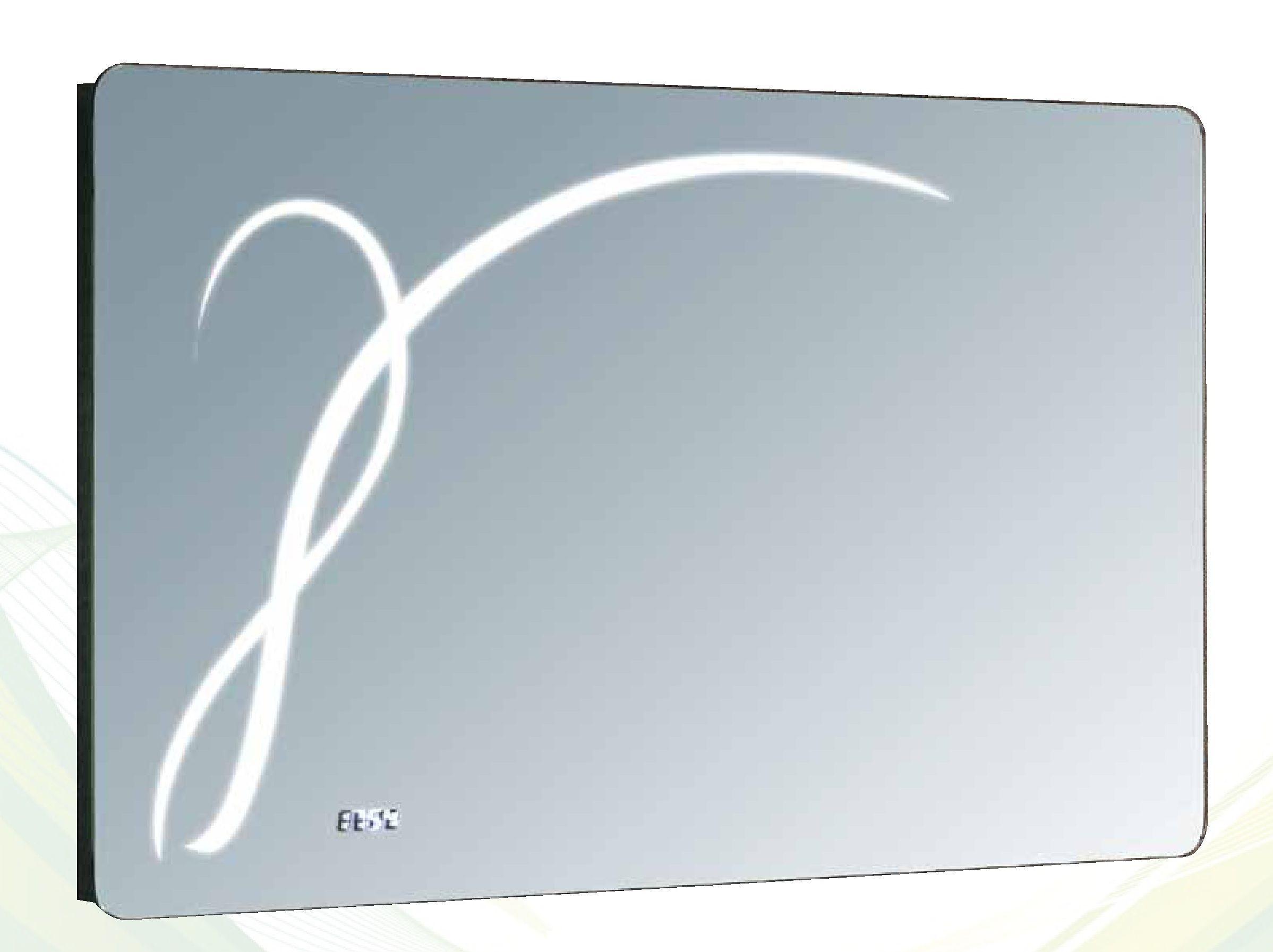 espejo led con reloj sanibao el marco de este espejo es de aluminio incorpora