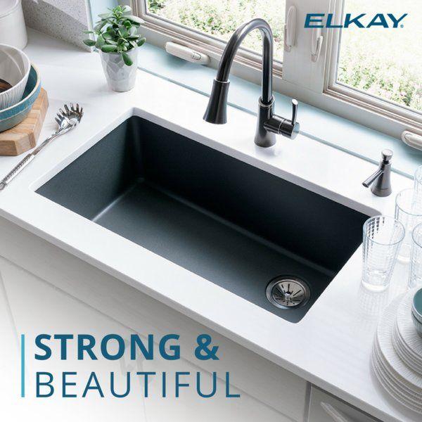Quartz Classic 33 L X 19 W Undermount Kitchen Sink In 2020 Undermount Kitchen Sinks Best Kitchen Sinks Kitchen Sink Remodel
