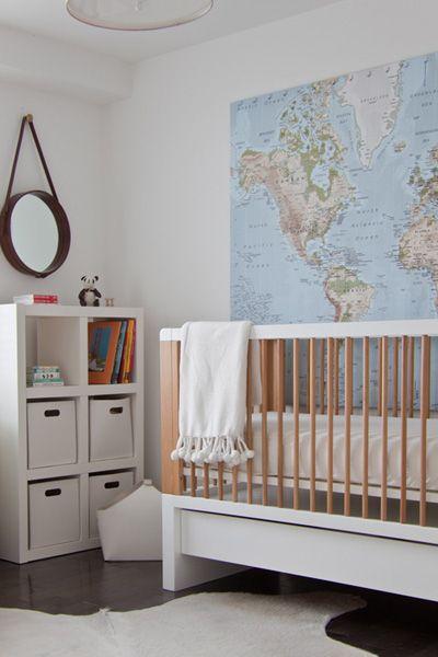 Kinderzimmer mit weltkarte wiborny for Kinderzimmer ab 1 jahr