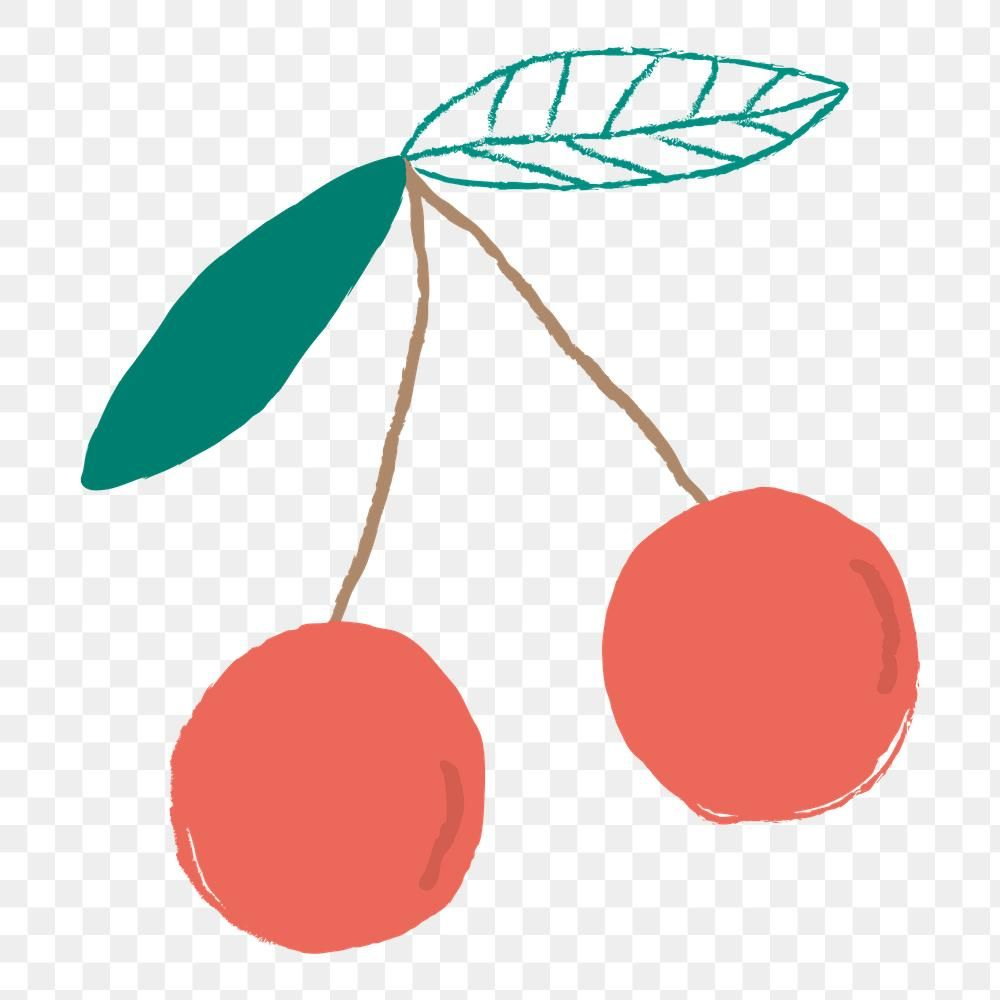 Png Pastel Hand Drawn Cherry Fruit Clipart Free Image By Rawpixel Com Marinemynt Fruit Clipart Clip Art Free Clip Art