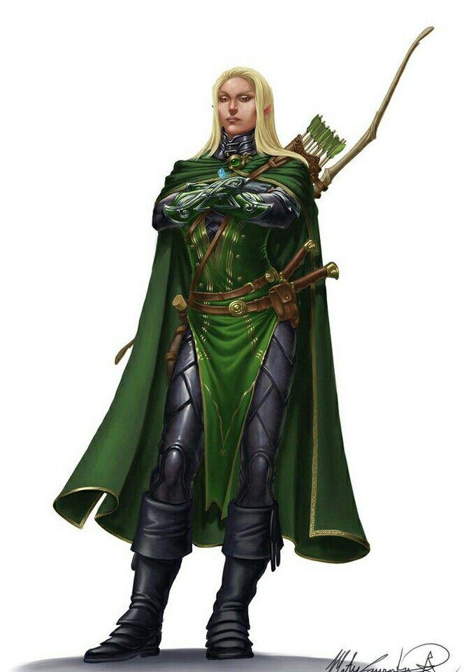 Elf Fighter Archer Pathfinder Pfrpg Dnd D D D20 Fantasy - Dokter Andalan