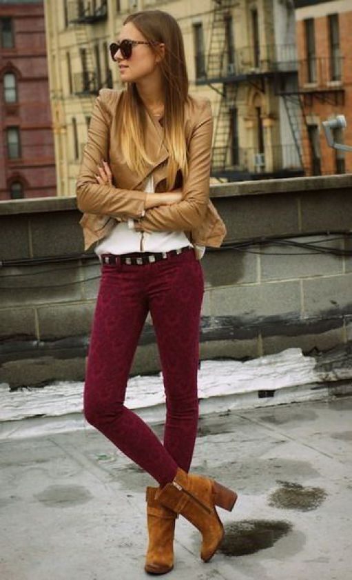 botines con pantalones tipo leggins