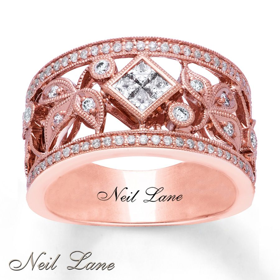 Kay Jewelers Neil Lane Designs Ring 3/4 ct tw Diamonds 14K Rose Gold ...