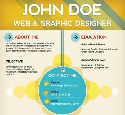 22 Free Creative Resume template InspireFirst For me