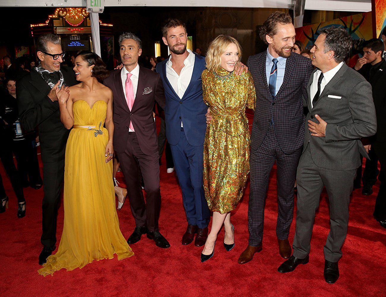 Jeff Goldblum Cate Blanchett Taika Waititi Mark Ruffalo Tom