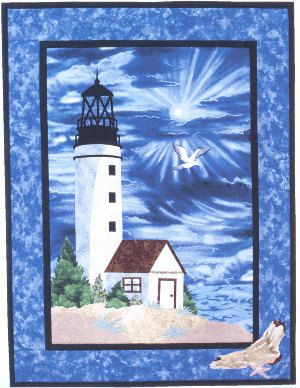 Lighthouse Quilt Wall Hanging Pattern Applique by ArwensChild, $7.50