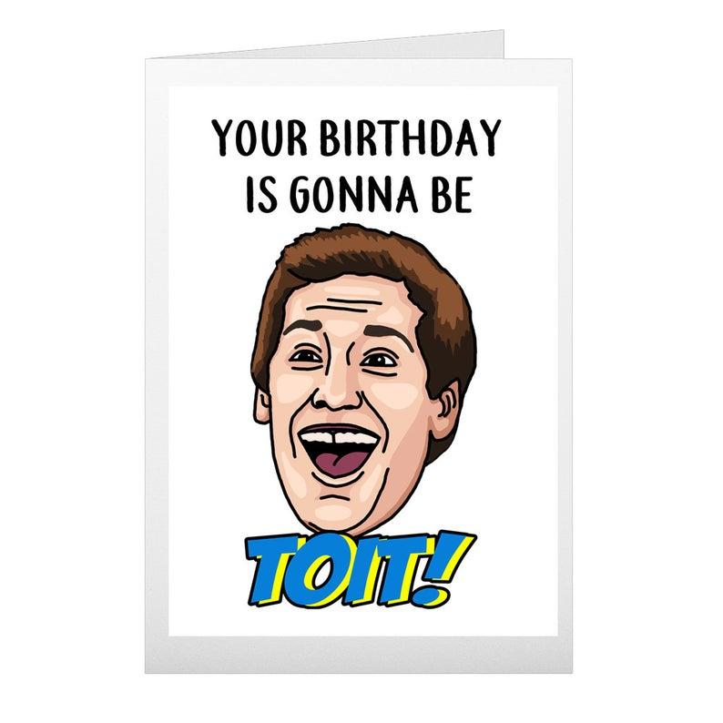 Jake Peralta Birthday Card Funny Brooklyn 99 Folded