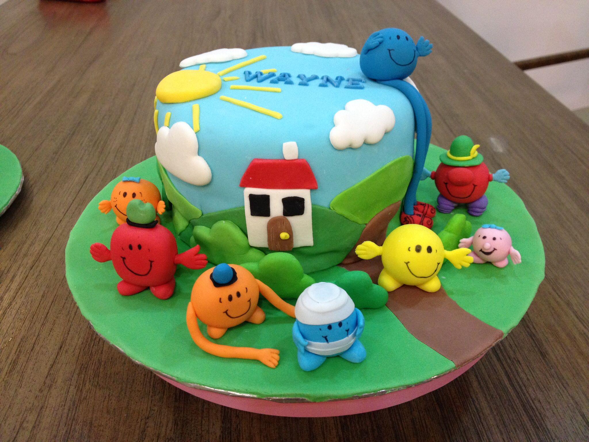 Mr Men N Little Miss Cake  Mr Men And Little Miss Cakes - Mr tickle birthday cake