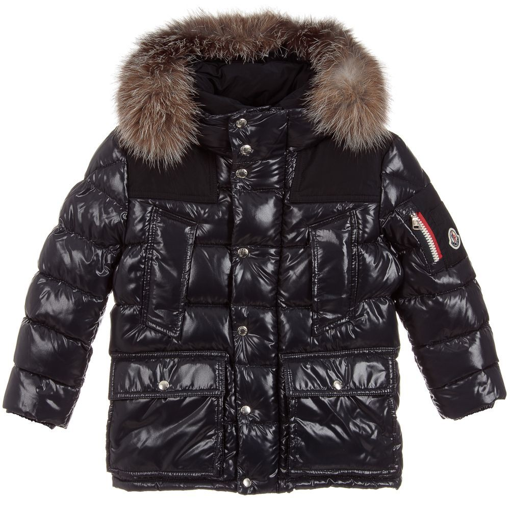 9064a1800 Boys LOUPMONT Down Padded Coat for Boy by Moncler. Discover the latest designer  Coats & Jackets for kids online